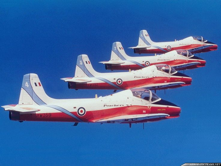 In 1969 from the Royal Air Force College at Cranwell was formed Cranwell Poachers aerobatic display team (also known like Lincolnshire Poachers), flying on four Jet Provost T.4 jet training planes in special color markings.In 1971 the Cranwell Poachers removed the Cranwell from the name and became ...