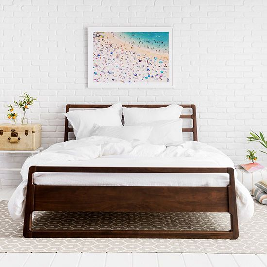 find this pin and more on interior dreamybedroom clean simple room with a dark wood bed frame - Dark Wood Bed Frame