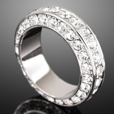 W GP Swarovski Crystal Wedding Band Engagement Ring E58