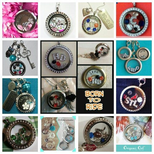 Origami Owl lockets for motorcycle (bike week), St Louis Cardinals, Chicago Cubs, Mom, Cancer survivor, University of Kentucky, travel and more.  So many options.  What do you love?Origami Owl