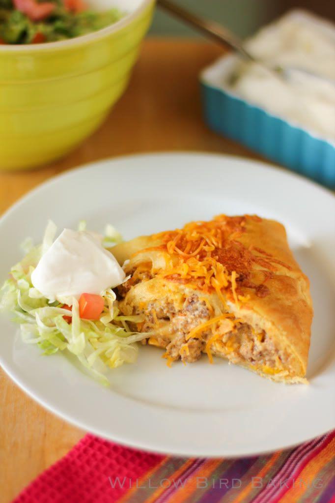 Sausage & Corn Chile Con Queso Taco Ring > Willow Bird Baking