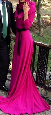 Fuschia #Hijab Dress.
