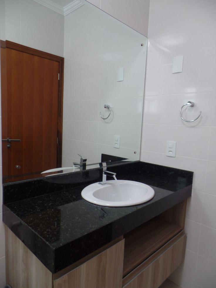 17 melhores ideias sobre Banheiro Em Granito no Pinterest  Armários de banhe -> Pia Banheiro Granito Preto