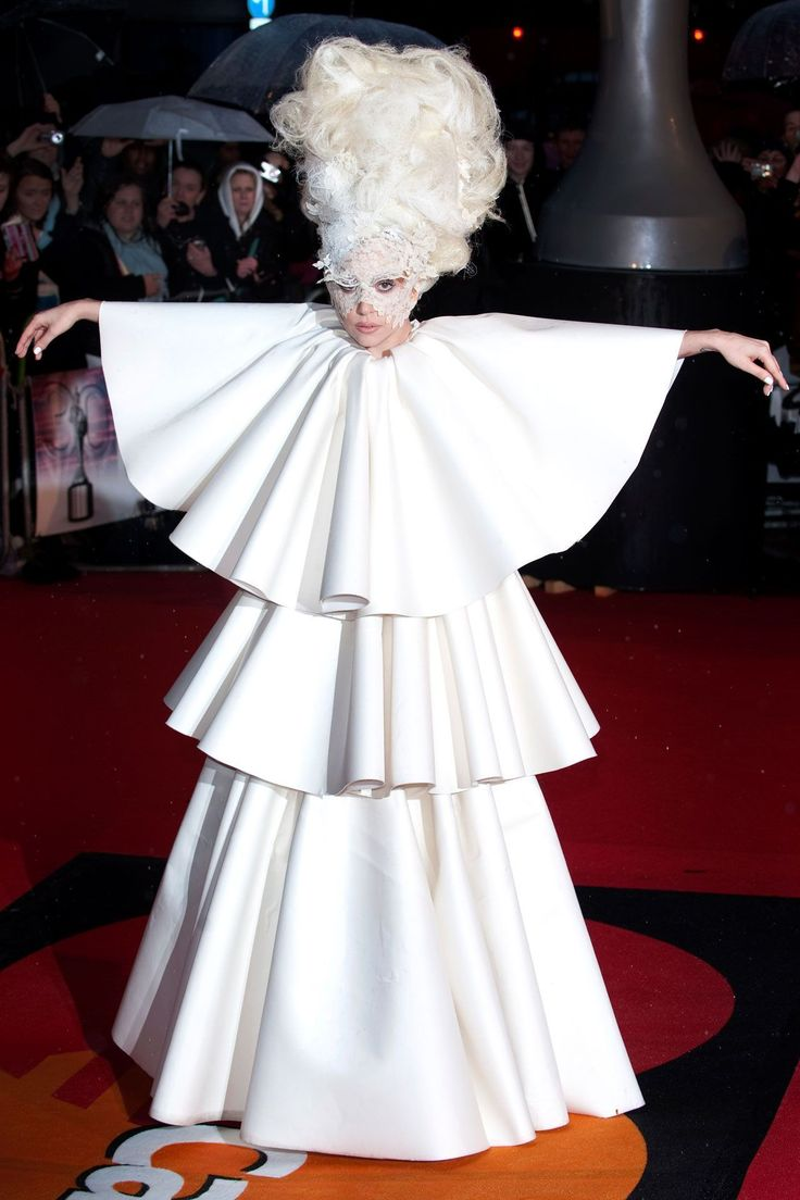 We celebrate Lady GaGa's weirdest, most wonderful and downright craziest looks here: Latest celebrity pictures, celebrity sightings, celebrity fashion, celebrity dresses and red carpet style at GLAMOUR.COM