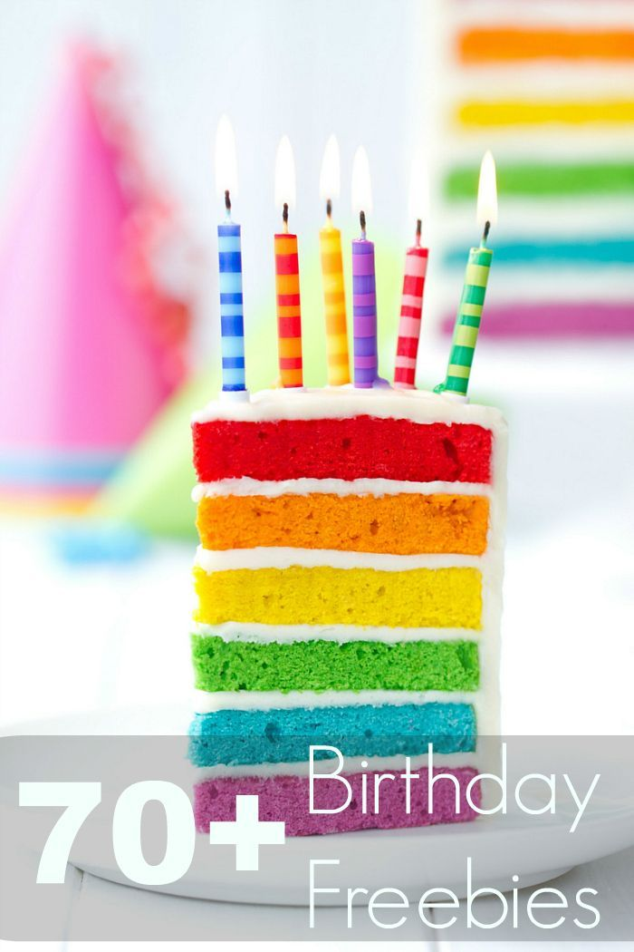 Over 70 birthday freebies from retailers and restaurants in town. What you get free on your birthday. via @thetypicalmom