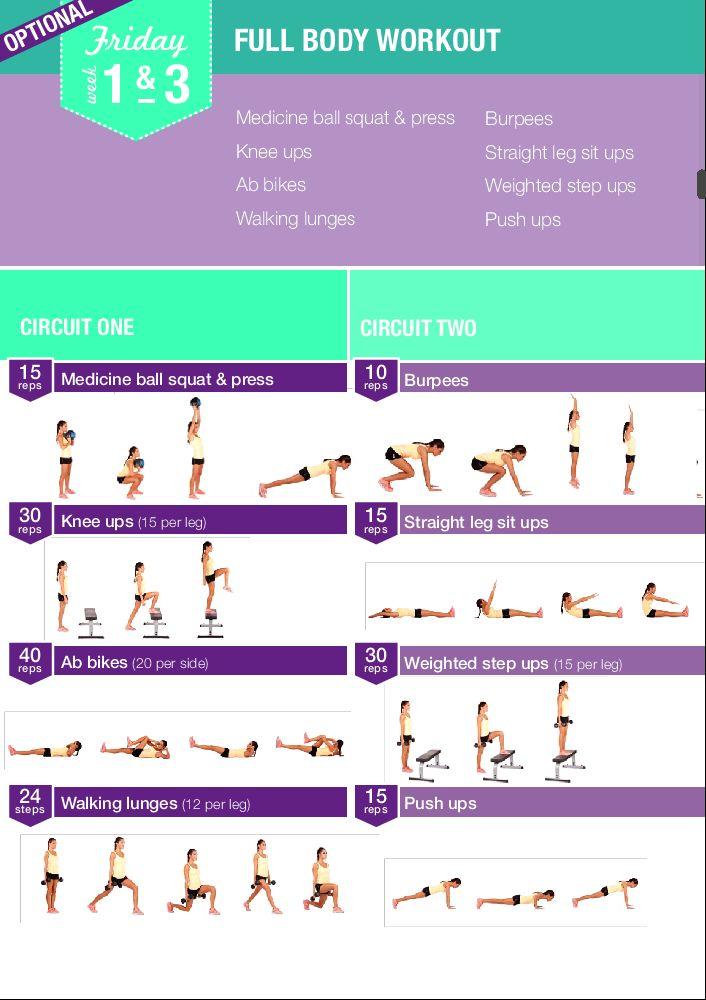 Week 1 Amp 3 Full Body Healthy Sports Bbg Programm Bbg Gesundheit