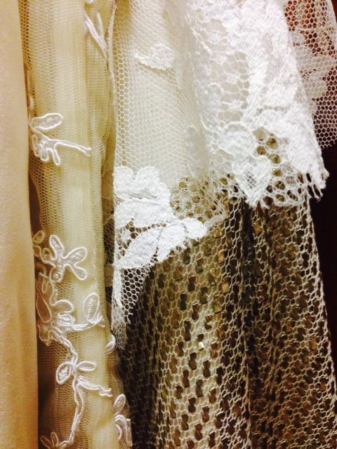 Corded lace, Chantilly lace, & antique Egyptian tulle-bi-telli #EcoBride www.ecobride.co.za