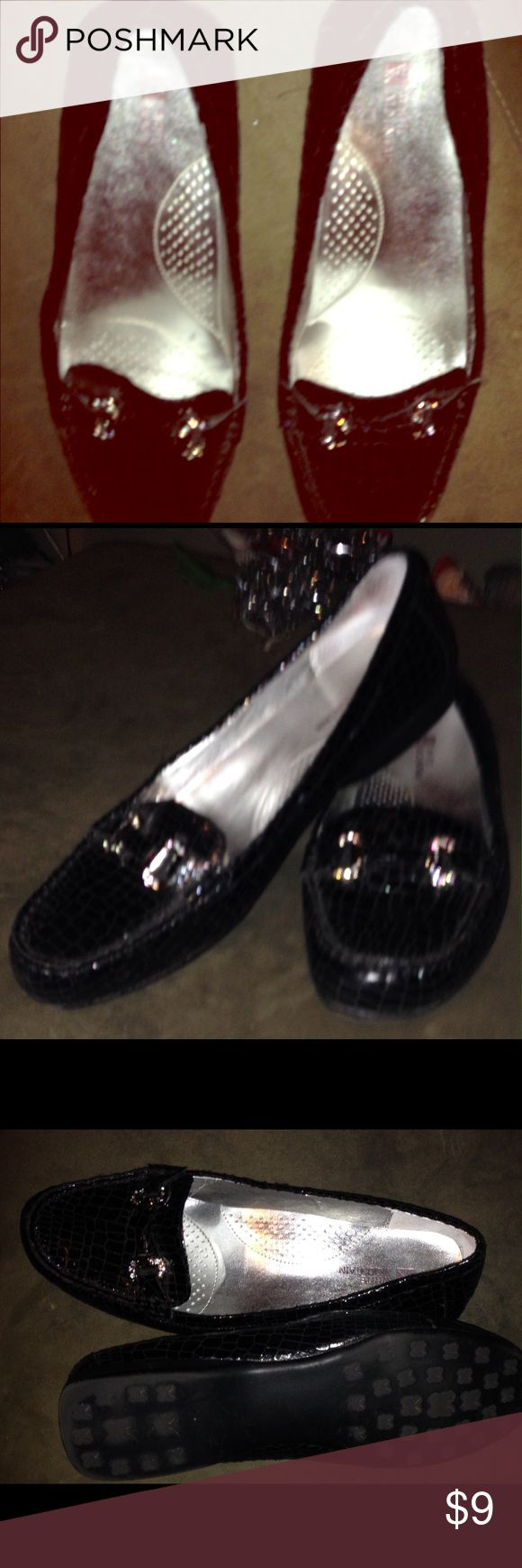 Dress shoes Slip on like loafer shoes  very cute wore a few times white mountain  Shoes Flats & Loafers