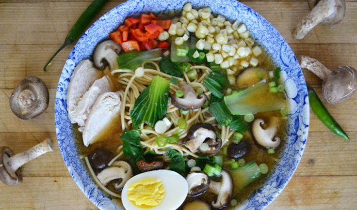 Miso Ramen with Shiitake and Chicken