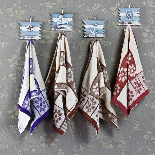 DIU# 1PC Clothes Rails Towel Mediterranean Style Nautical Decor Hook Iron Wall Decor Hat/Coat Hanger