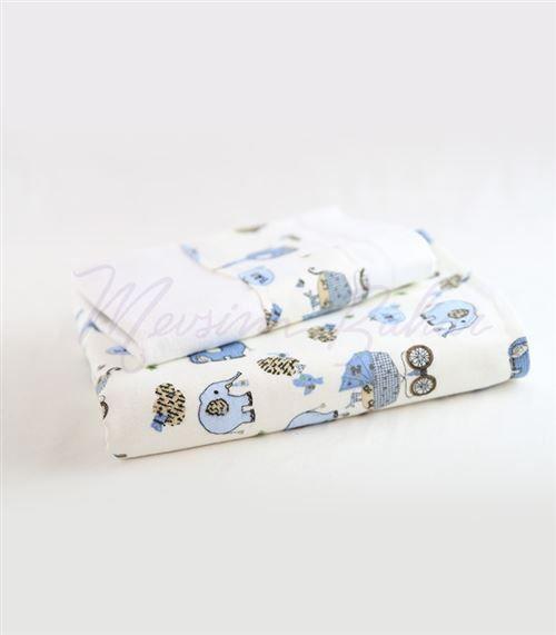 Bebek Battaniyesi ve Yastık Takımı Mavi