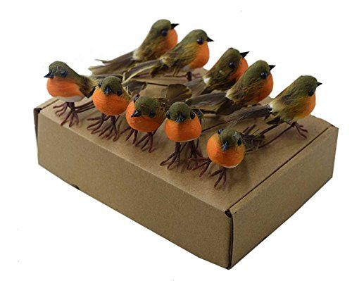 TOME 10PCS Robin Bird Christmas Tree Decoration Craft VERY CUTE Artificial Feather VERY CUTE Artificial Feather Robin Bird Christmas Tree Decoration Craft   The bird with wire can be tied to a tree  Ideal for Christmas Deco (Barcode EAN = 0603629502773) http://www.comparestoreprices.co.uk/december-2016-3/tome-10pcs-robin-bird-christmas-tree-decoration-craft-very-cute-artificial-feather.asp