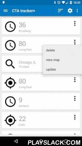Transit Tracker - CTA  Android App - playslack.com ,  Transit Tracker - CTA allows riders to take advantage of the Chicago Transit Authority's Bus Tracker API.Transit Tracker - CTA also includes the ability to download route schedules.Transit Tracker - CTA allows you to define alerts for CTA routes and stops; get a notification when a vehicle on a specific route is approaching or arriving at a particular stop.Please send me an email if you find a problem or if you have any comments or…