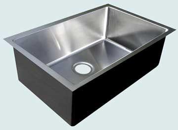 Custom Stainless Steel Kitchen Sinks # 3718