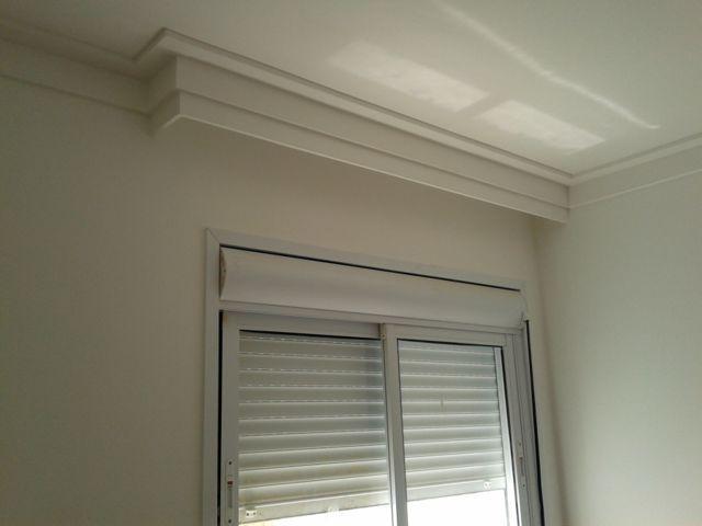 Moldura de gesso para cortineiro