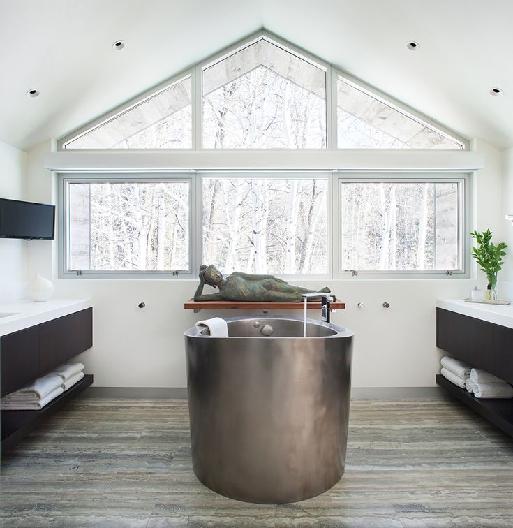 17 best images about bathroom on pinterest stainless for Soaking tub with seat