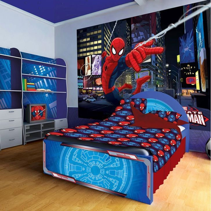 غرف نوم أولاد 2019 أفضل الديكورات بالصور للأمراء الصغار و الكبار ديكوراب Themed Kids Room Spiderman Bedroom Kids Room Design