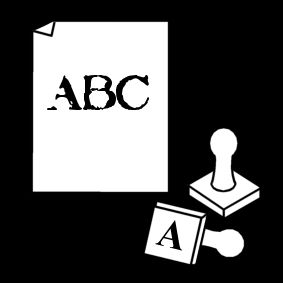 letters stempelen / stempelen
