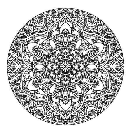 Mystic Mandala Adult Colouring Page In Sheets
