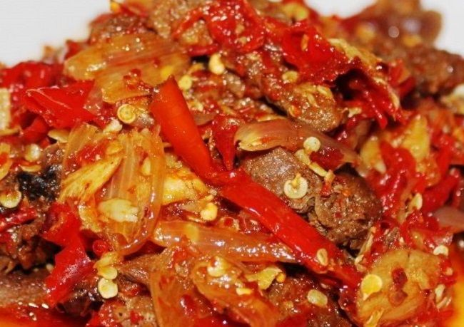 Resepi Daging Dendeng Berlada | Asian recipes, Meat recipes