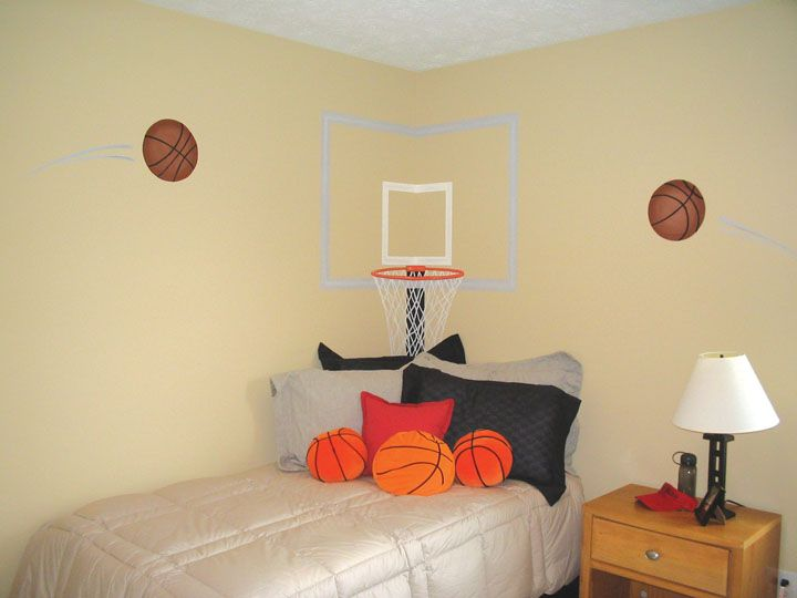 1000 ideas about basketball room on pinterest - Comely pictures of basketball themed bedroom decoration ideas ...