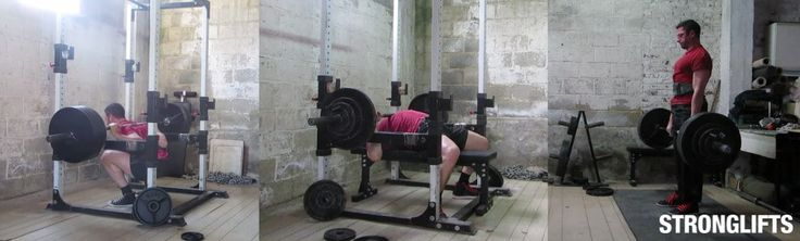 StrongLifts 5x5 - five exercises (Squat, Bench Press, Deadlift, Overhead Press and Barbell Row) on four instruments (barbell, bench, plates and rack)