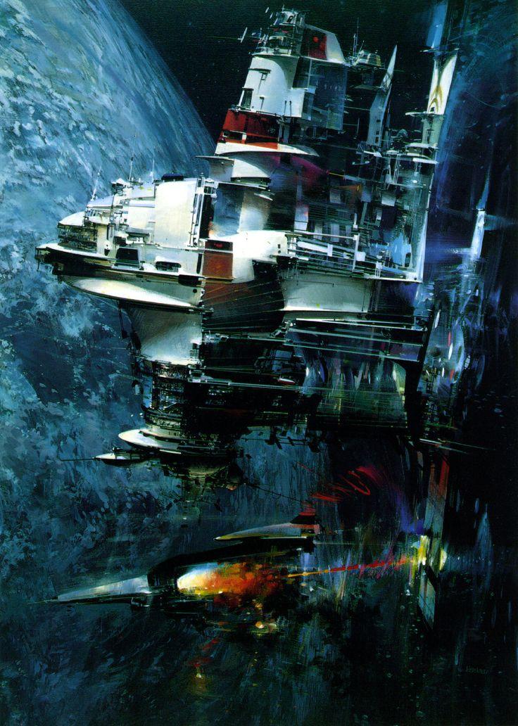 John Berkey   #science #fiction #spaceFiction Art, Berkey Science, Concept Art, 0 Scifi Art, Conceptart, Science Fiction, Johnberkey, Sci Fi, John Berkey