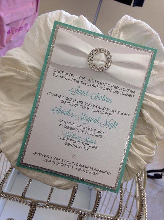 Tiffany Invitation Tiffany Sweet 16 Tiffany Bridal Shower