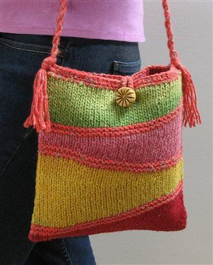 Gentle Waves Bag, As Seen on Knitting Daily TV with Vickie Howell, Episode #1302 - Knitting Daily