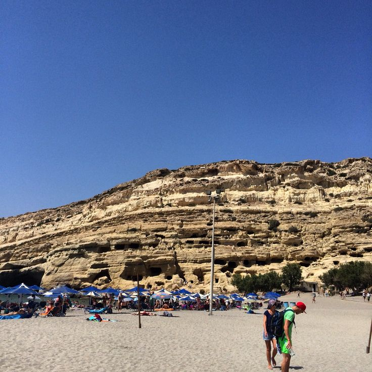 Матала. Пляж хиппи.