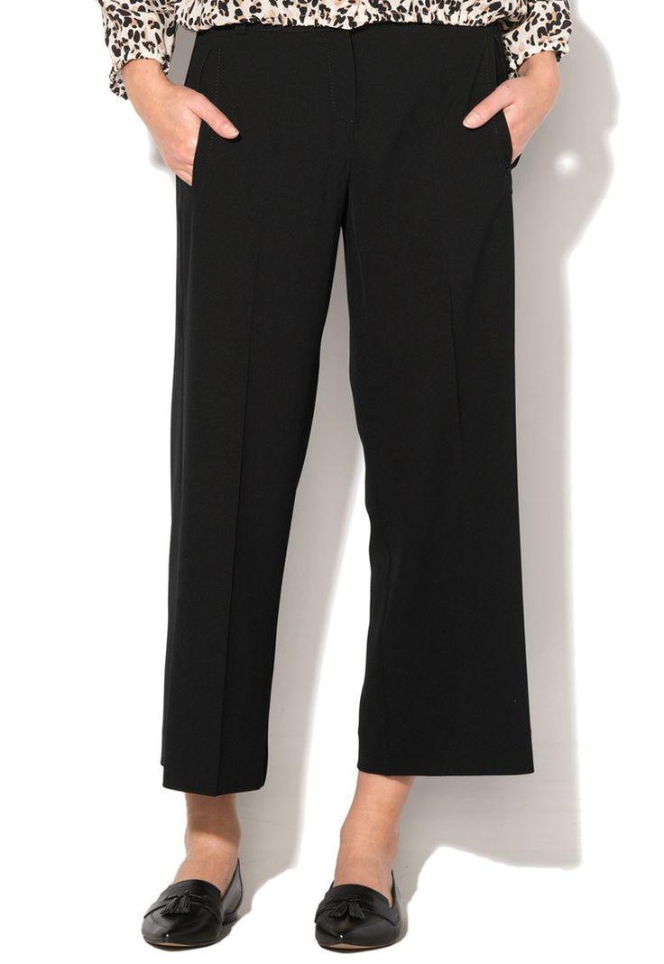 Pantaloni negri din pique Fornace - Marella
