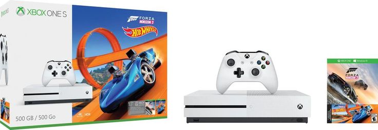 Microsoft - Xbox One S 500GB Forza Horizon 3 Hot Wheels Console Bundle - White