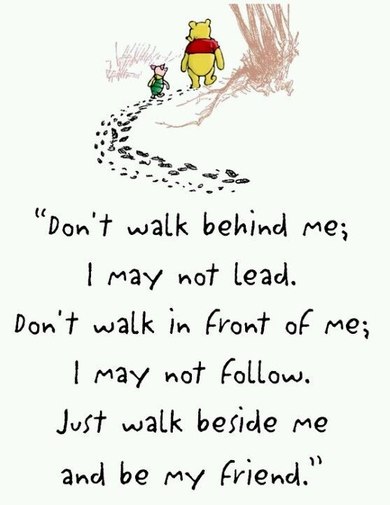 Beside Me. Inspirational quotes about life and friends. Disney Winnie The Pooh quotes. Tap to see more! | @mobile9