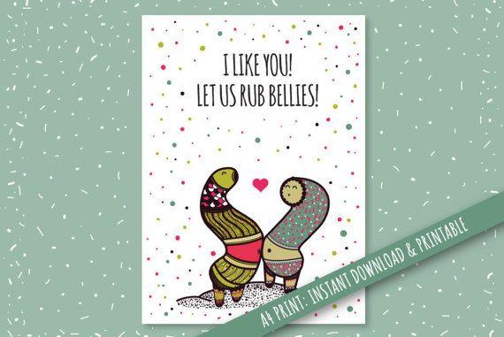 Digital Card Celebrating Weird Love Digital and Printable