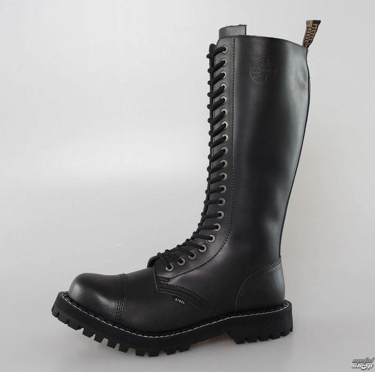 topánky STEEL - 20 dierkové - Black - Metalshop.sk Začínam si šetriť :P