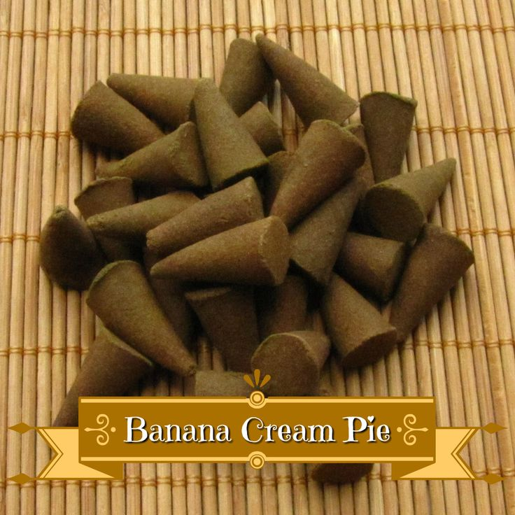 See whats new on our store: Banana Cream Pie ... Check it out here! http://www.cherrypitcrafts.com/products/banana-cream-pie-incense-cones?utm_campaign=social_autopilot&utm_source=pin&utm_medium=pin