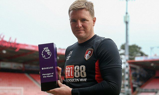 Eddie Howe wins Premier League Manager of the Month