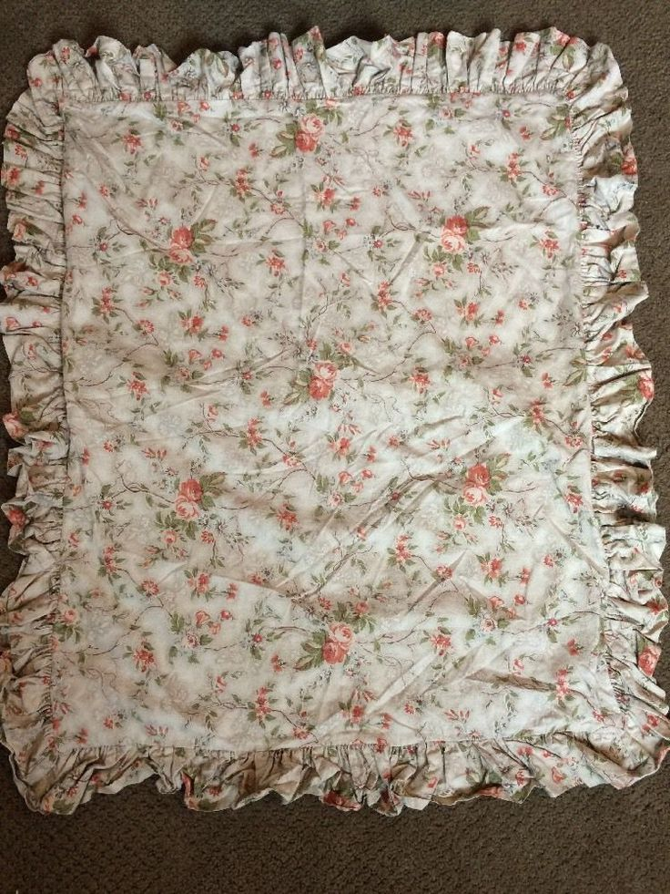 Ralph Lauren 1 Cole Brook Floral Cotton Sham Standard Ruffled Edge Rare # RalphLauren #Cottage