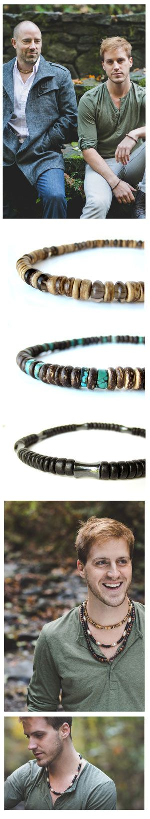 Tribal Turquoise a luxury, wooden mens necklace - Authentic Arts | Nature Art and Jewelry by Jenny Hoople