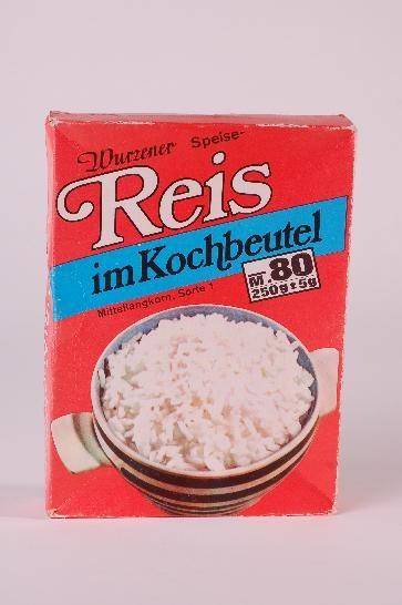DDR Museum - Museum: Objektdatenbank - Reis im Kochbeutel Copyright: DDR…