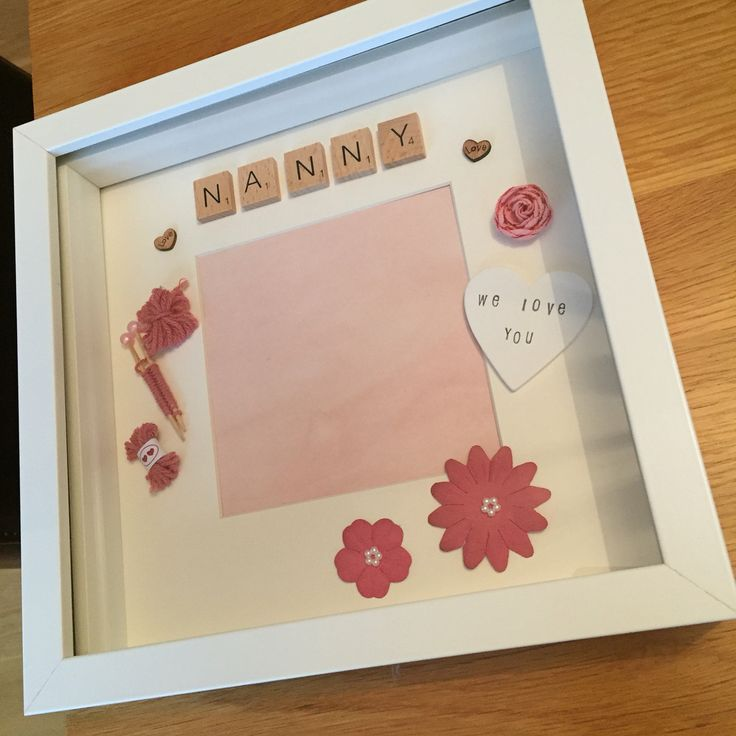 Find me on Facebook 'One of a Kind'  Personalised frames for all occaisons!! Price vary between £14-£18.  This beautiful frame was made for a customer as a gift to their Nanny!!