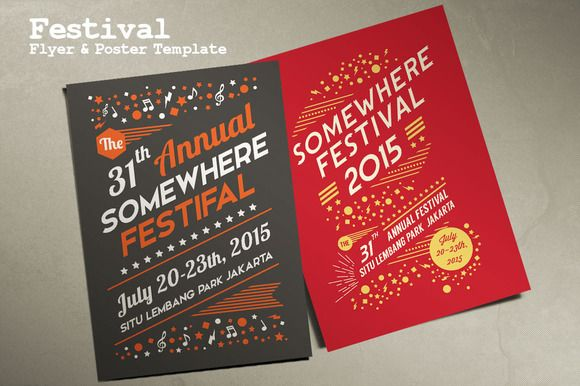 Check out Festival Flyer & Poster Template by Rooms Design Shop on Creative Market
