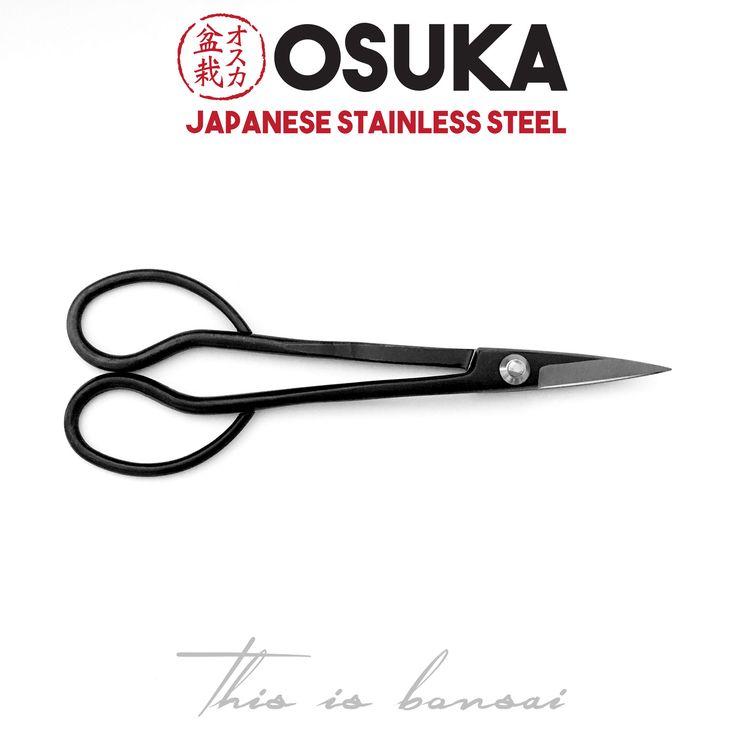 • OSUKA Bonsai Trimming Scissors (Bonsai Shears) • Length – 180mm • Finish – Black • Material – High Quality Japanese Stainless Steel