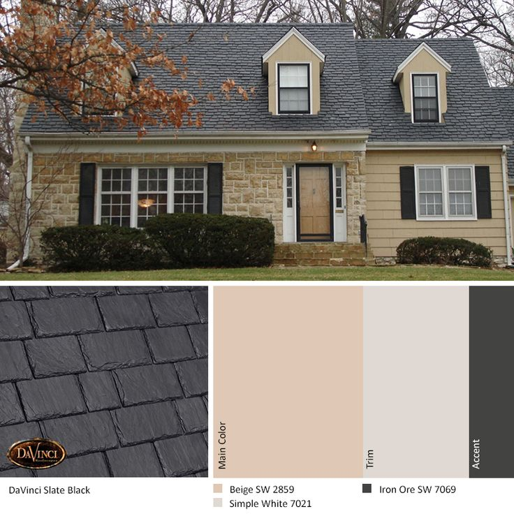 Best Exterior Color Scheme Slate Black Davinci Slate Roof 400 x 300