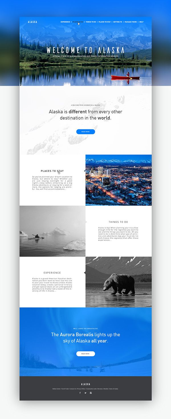 This is Alaska by Riccardo Vicentelli, via Behance
