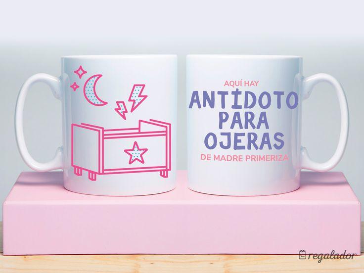 """Taza: """"Aquí hay antídoto para madres primerizas""""  Regalos para madres, regalos para el Día de la Madre, regalos para mamás, Tazas originales, Tazas personalizadas, tazas bonitas"""