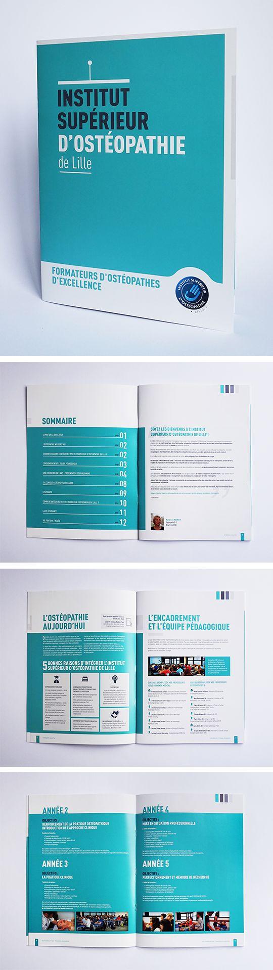 création de brochure, plaquette Institut Supérieur d'Ostéopathie de Lille