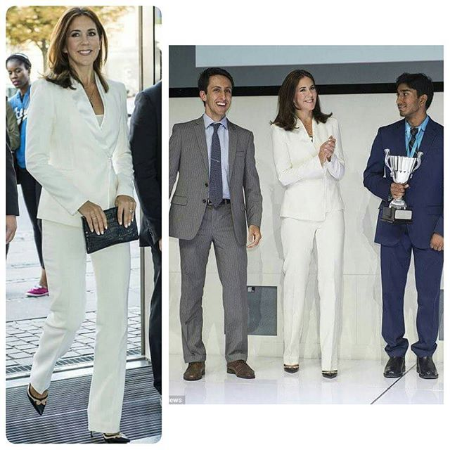 Crown Princess Mary at The University World Cup 2015 The Crown Princess was at Industriens hus to presented the winning prize to Standford University students Caleb Kumar, 19, Aslan Maleki, 22, and Teun de Planque, 22. #kronprinsesanmary #crownprincessmary #UniversityWorldCup #StandforsUniversity