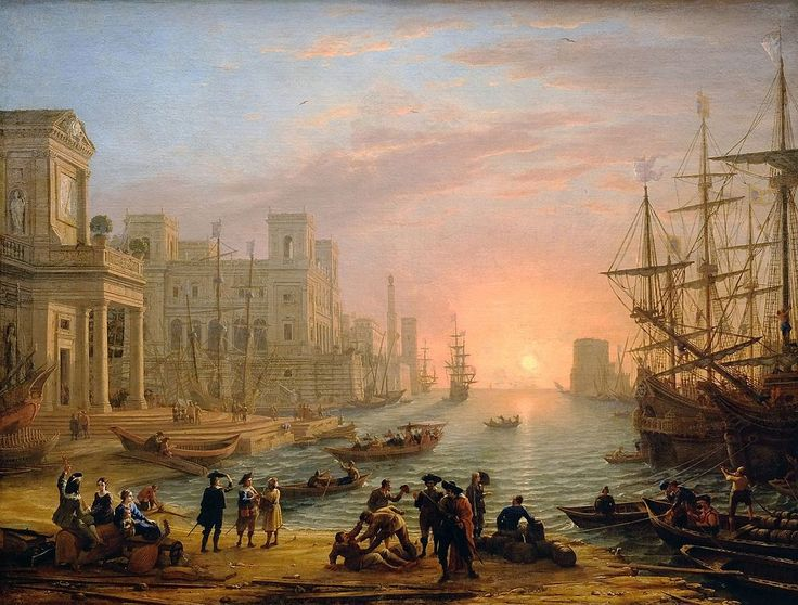 Claude Lorrain - Port de mer au soleil couchant