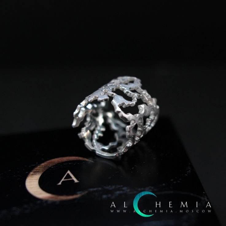 The Bark ring. Silver. Handmade by Alchemia Jewellery